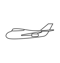 Design aeroplane and air sign vector