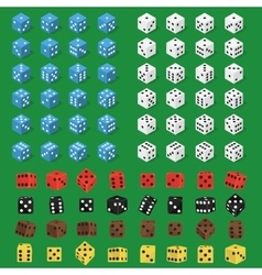 Dice bone isolated vector image vector image