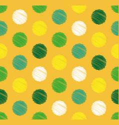 dots circle geometric seamless pattern background vector image