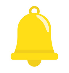 easter bell flat icon easter and holiday vector image
