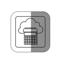 figure cloud calendar network icon vector image