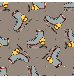 figure skating theme vector image