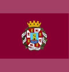 Flag cartagena in region murcia spain vector