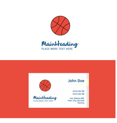 flat basket ball logo and visiting card template vector image