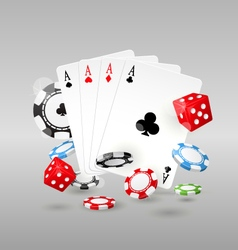 Gambling and casino symbols - poker chips vector image