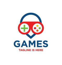 games logo vector image
