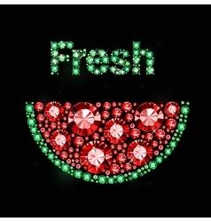 Gem Watermelon vector