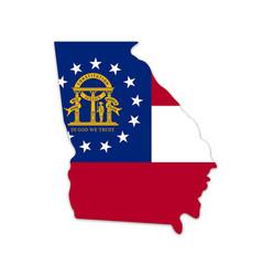 georgia ga state map shape with flag vector image