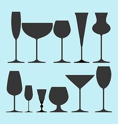 Glasses Set icon vector image
