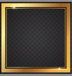 gold frames light in transparent background vector image