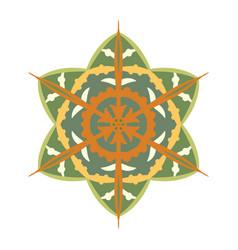 hand drawn mandala snowflake vector image