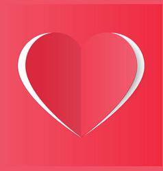 heart paper handmade vector image