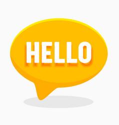 hello word on english language in yellow speech vector image