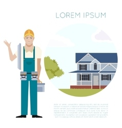 Home building banner2 vector image