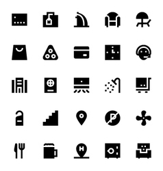 Hotel Services Icons 3 vector image