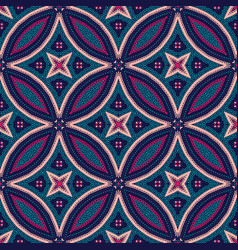 Intricate mandala pattern tile background vector
