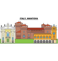 italy mantova city skyline architecture vector image