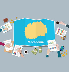 Macedonia economy country growth nation team vector