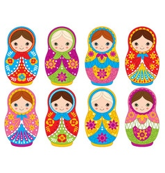 Matryoshka Set vector