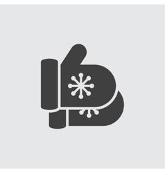 Mitten icon vector image