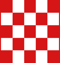 Modern checkered pattern red and white texture vector