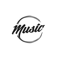Music abstract logo design vector