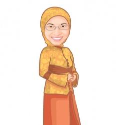 Muslim girl vector