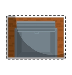 Open garage door icon image vector