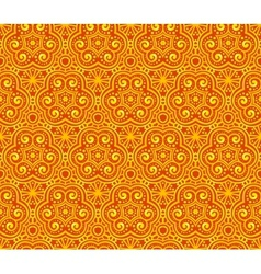Orange abstract curls seamless pattern vector image