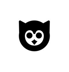 owl bird icon vector image
