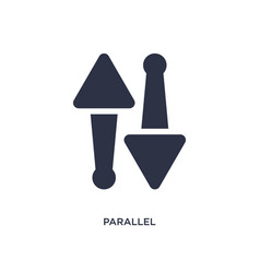parallel icon on white background simple element vector image