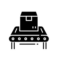 percel black icon concept vector image
