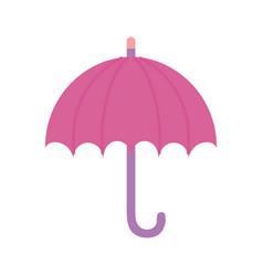 pink umbrella protection accessory icon vector image