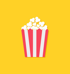 popcorn icon cinema sign symbol in flat design vector image