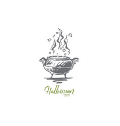 pot poison halloween potion holiday concept vector image