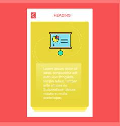 presentation chart mobile vertical banner design vector image