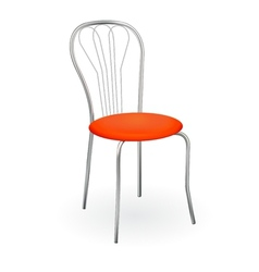 Realistic chair isolated on white for design vector