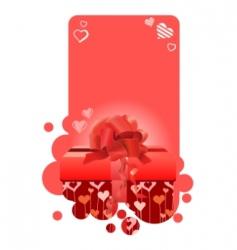 red present on vertical frame vector image