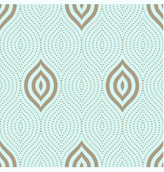 seamless dots ornament vector image