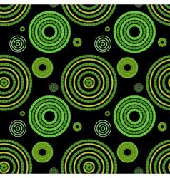 Seamless green geometric pattern vector image