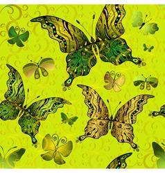 Seamless vivid vintage pattern vector image