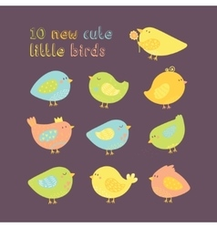 Simple minimal set of lovely cartoon cute vector