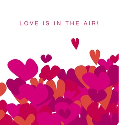 Simple vivid life valentine hearts assorted flying vector