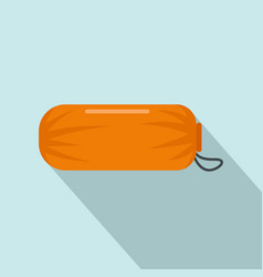 sleeping bag icon flat style vector image
