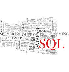 Sql word cloud concept vector