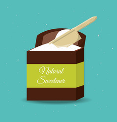 stevia natural sweetener packet product vector image