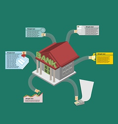 The Banks work Infographics banking vector image