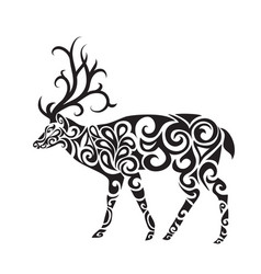 tribal deer vector image vector image