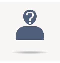 User silhouette with question mark - icon vector image