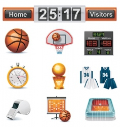 Vector basketball icon set vector